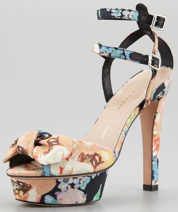 Loeffler Randall Dahlia Floral Bow Sandal $425.00