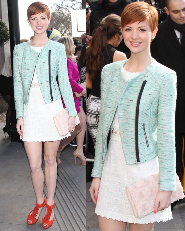 Lucy Dixon at the TRIC Awards 2013 held at the Grosvenor House Hotel in London, England, on March 12, 2013