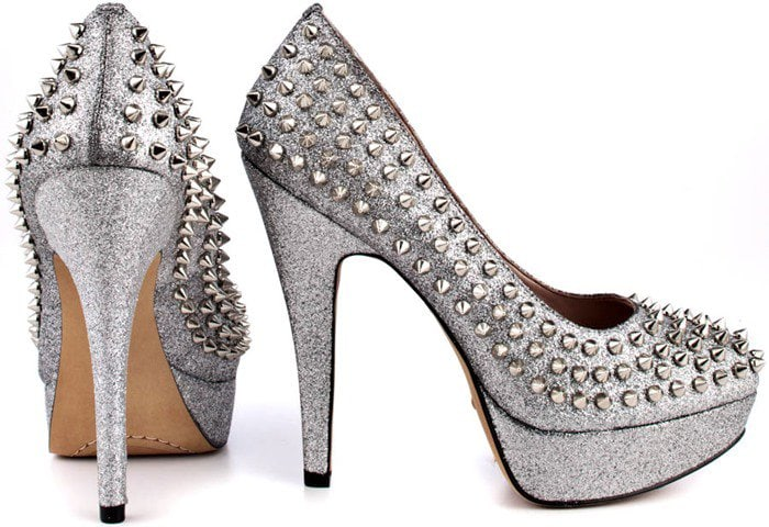 """Dark Silver Vince Camuto """"Madelyn"""" Pumps"""
