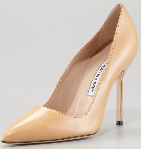 Manolo Blahnik BB Pointed-Toe Pump, Camel $595.00