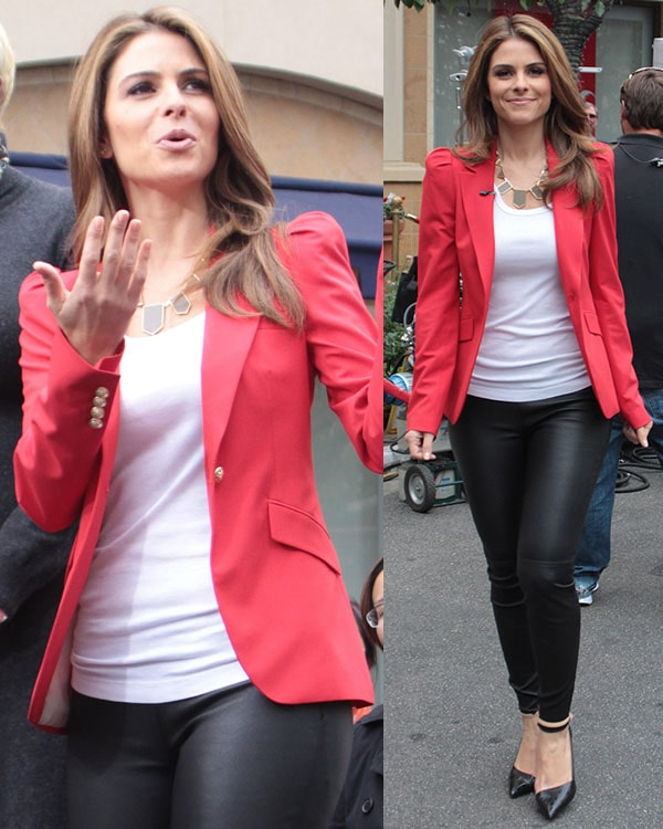 Maria Menounos Celebrities at The Grove to appear on entertainment news show 'Extra' Los Angeles, California