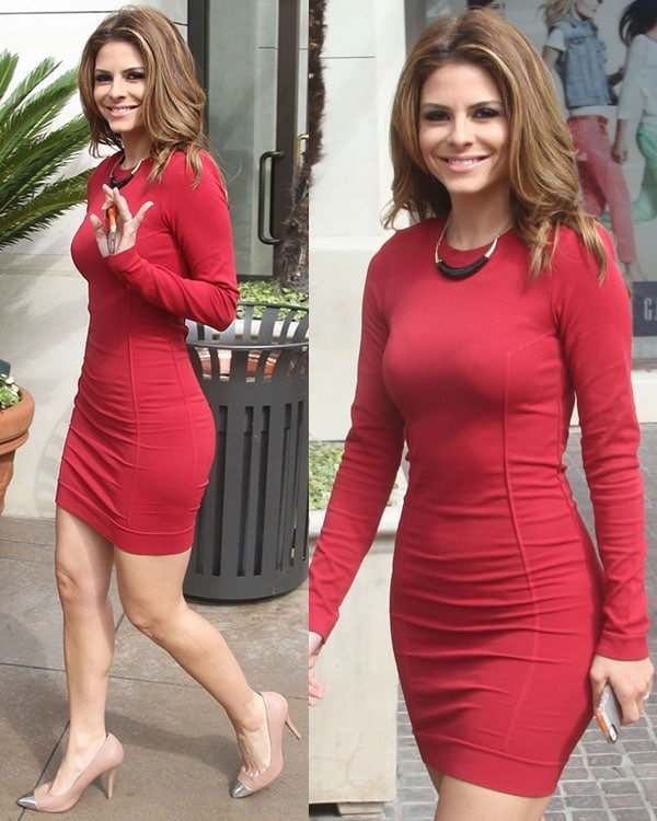 Maria Menounos at The Grove to appear on entertainment news show 'Extra' Featuring