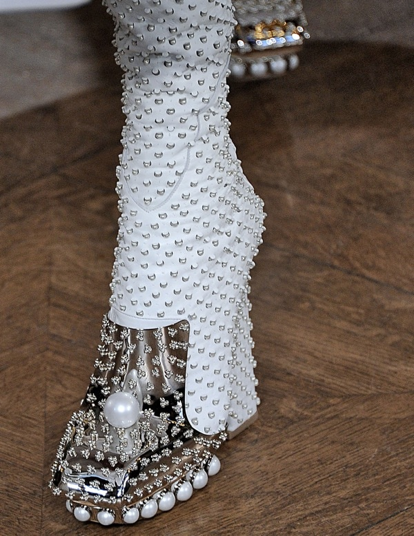 Pearl-embellished Alexander McQueen shoes