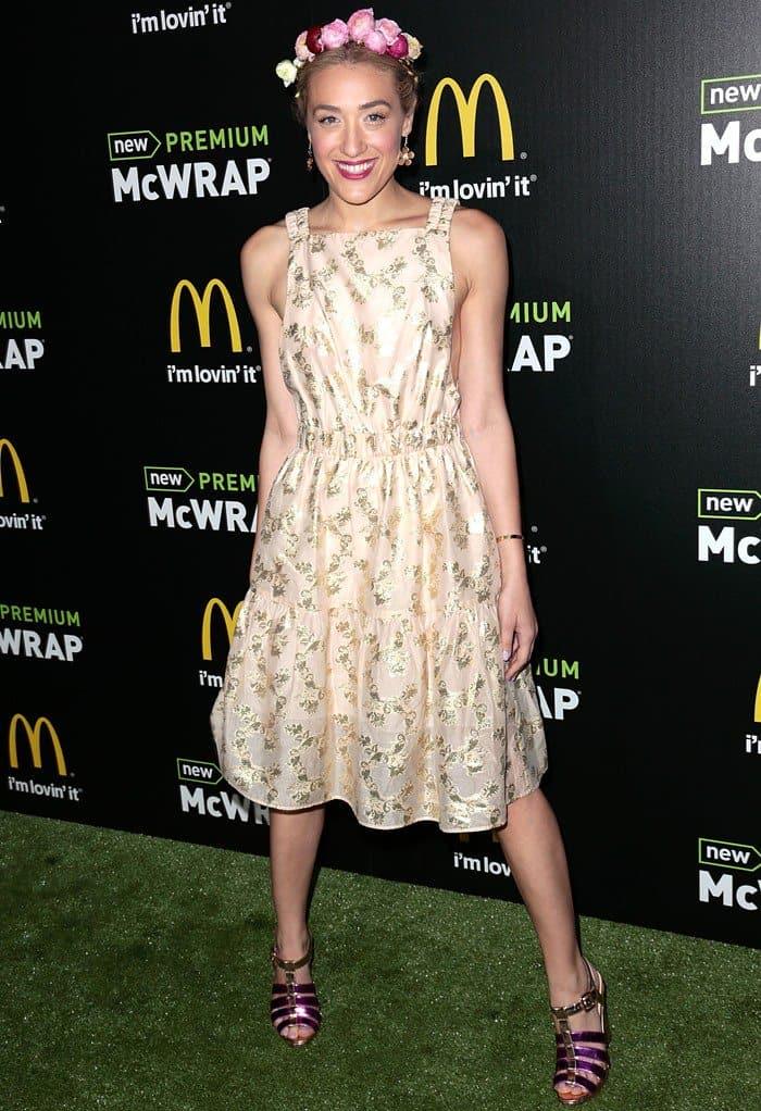 Mia Moretti at McDonald's Premium McWrap Launch Party