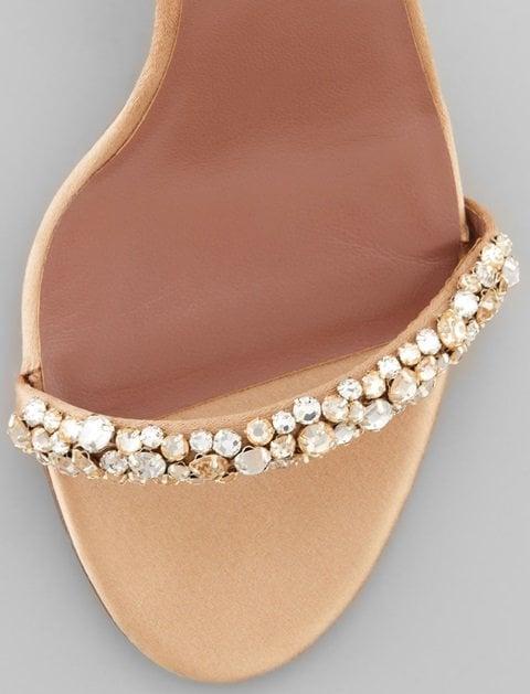 Tabitha Simmons Deon Crystal Strap Satin Sandals