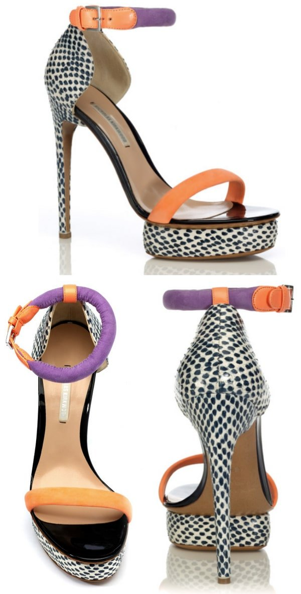 Nicholas Kirkwood Blue Pois Sandals