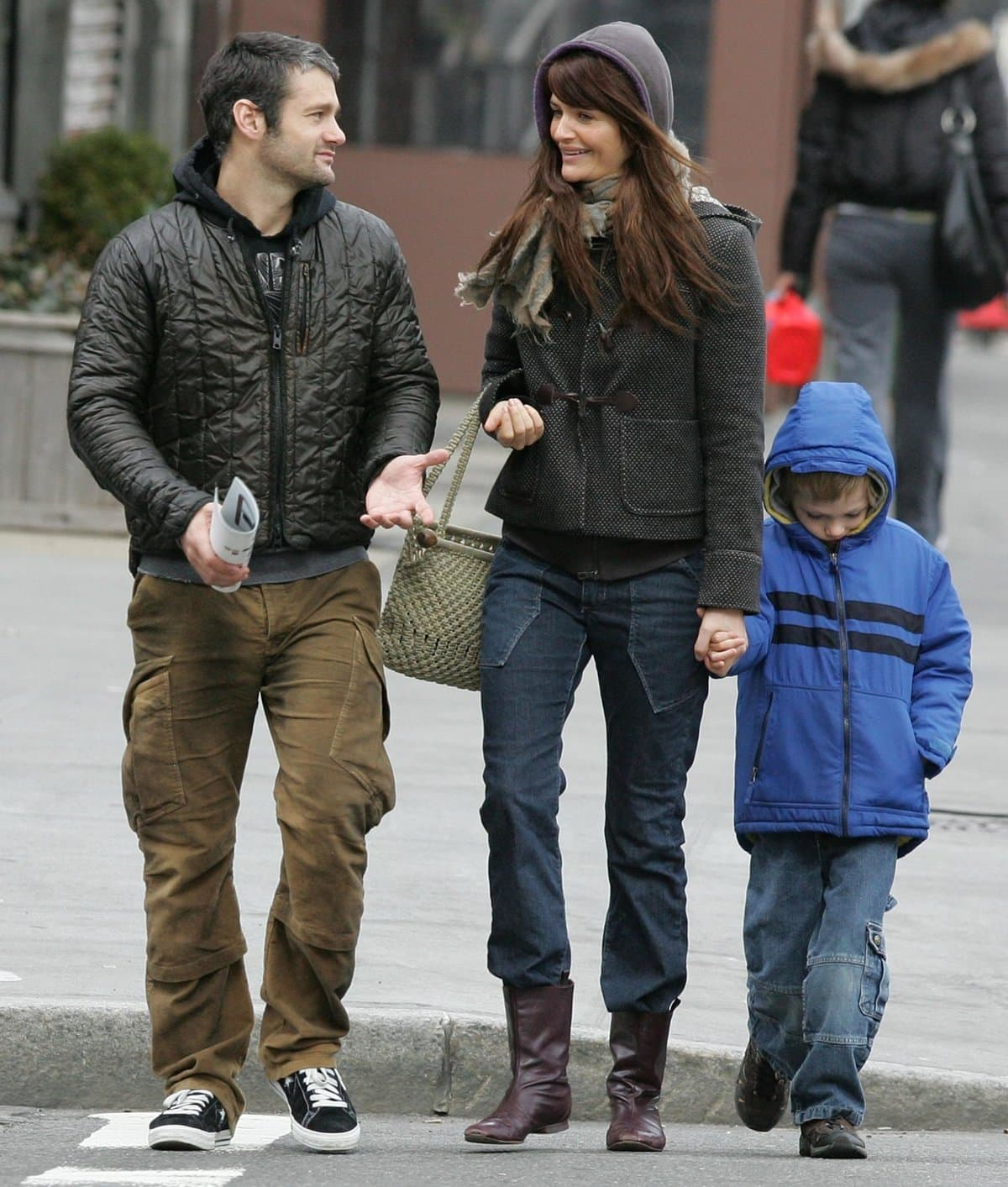 Norman Reedus with her then-wife Helena Christensen and son Mingus Lucien Reedus