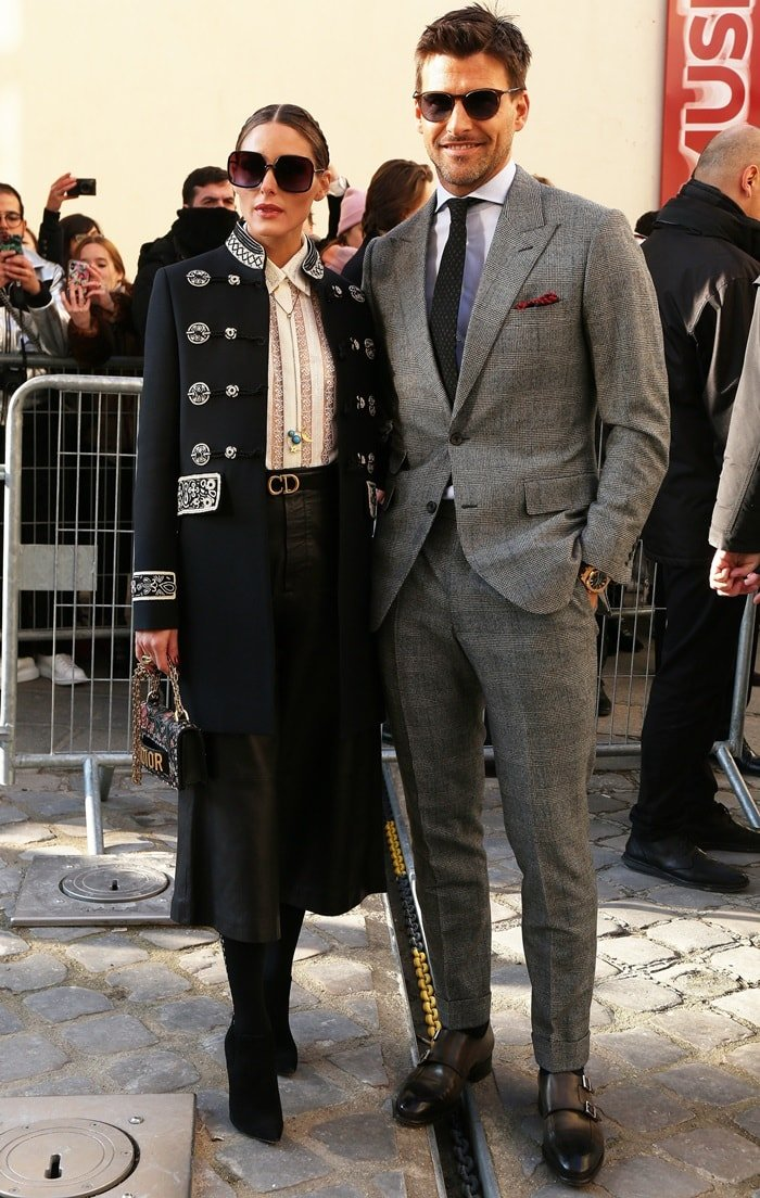 Olivia Palermo and Johannes Huebl attend the Christian Dior Haute Couture Spring/Summer 2019 show