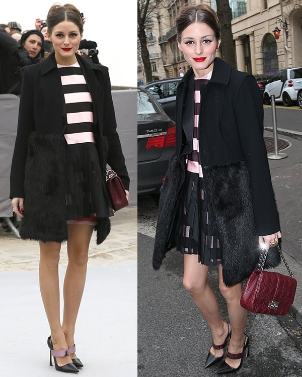 Olivia Palermo attends the Christian Dior Fall/Winter 2013 Ready-to-Wear show