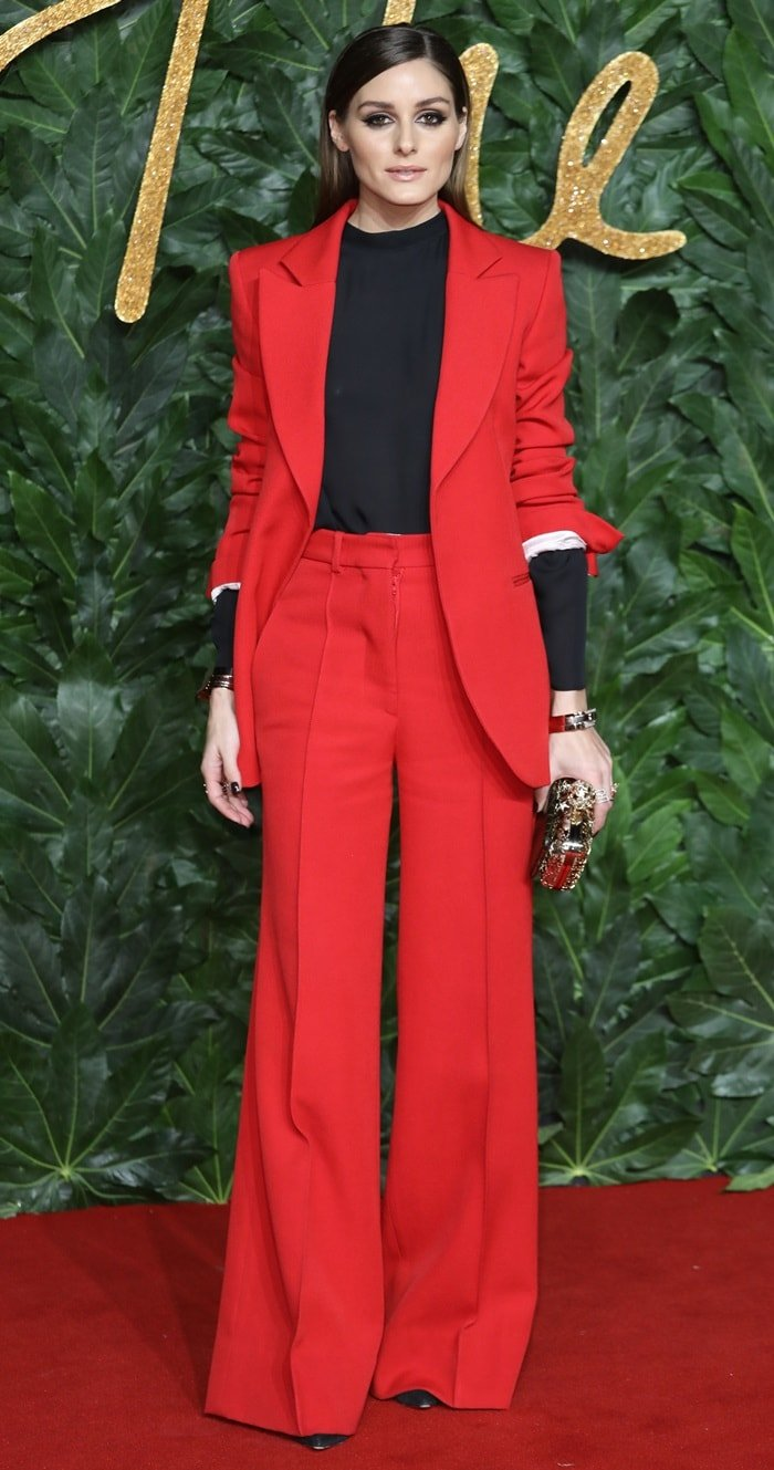 Olivia Palermo attends the Fashion Awards 2018