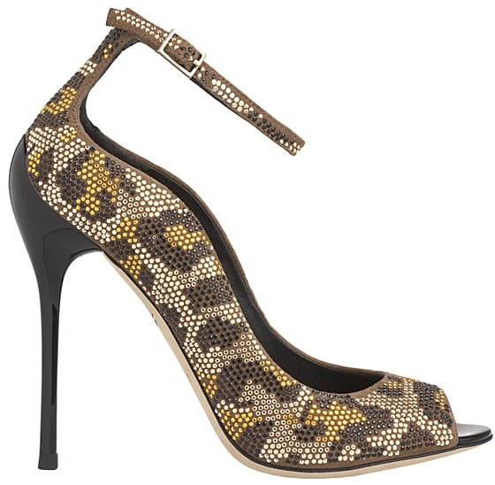 b brian atwood leopard studs on suede leida