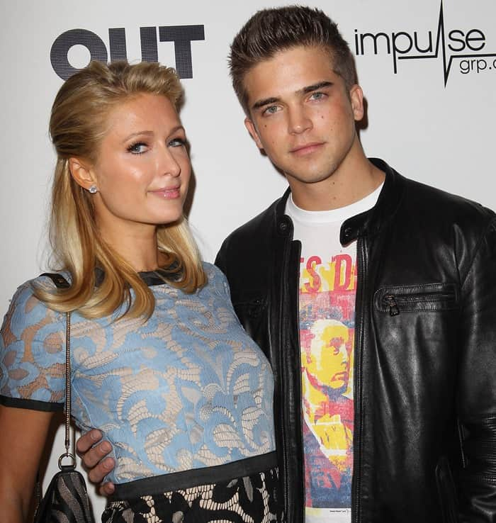 Paris Hilton and River Viiperi attend OUT magazines celebration of LA fashion week with OUT fashion
