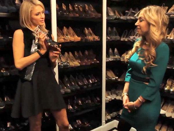 Paris Hilton shoe closet 1