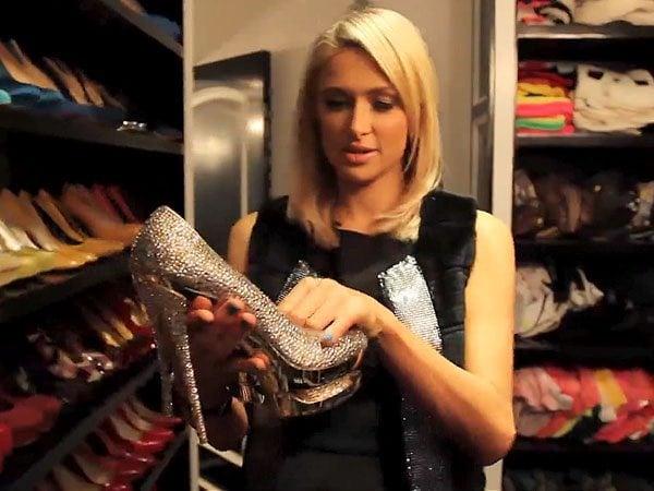 Paris Hilton shoe closet 3`