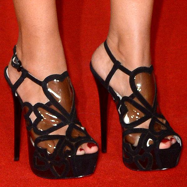 Preeya Kalidas KG Kurt Geiger Kitty sandals