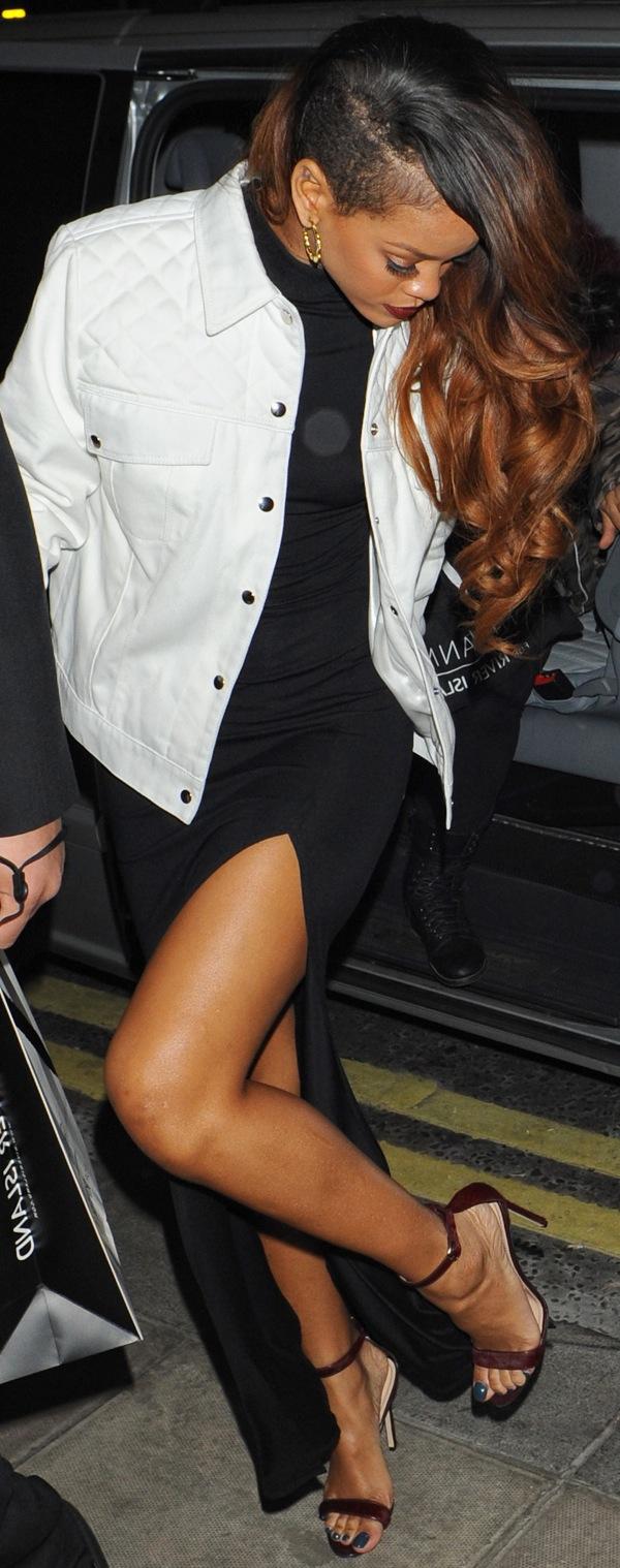 "921cf99ac48ed Rihanna Loves Her Manolo Blahnik ""Chaos"" Ankle-Strap Sandals"