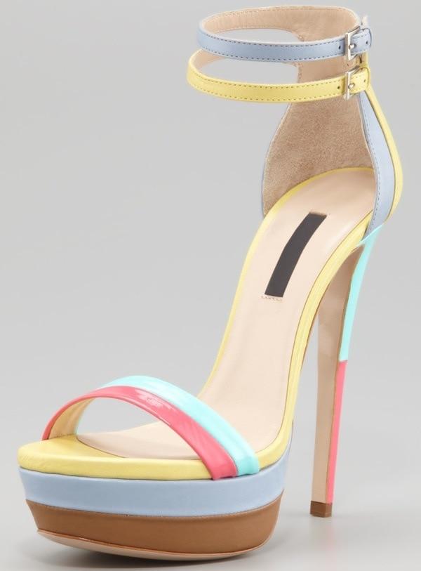 Ruthie Davis West Palm Patent Platform Sandal $798.00