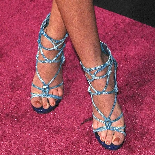 Samantha Droke blue strappy sandals