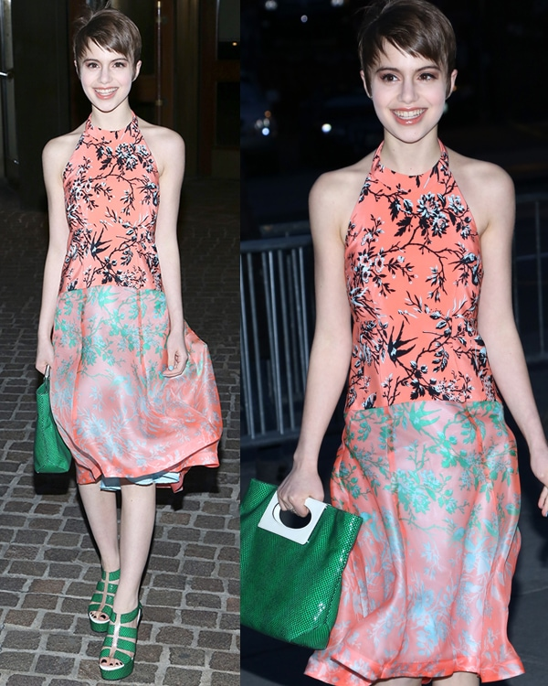 Sami Gayle at The Cinema Society and Jaeger-LeCoultre screening of Open Road Films' 'The Host' at Tribeca Grand Hotel on March 27, 2013