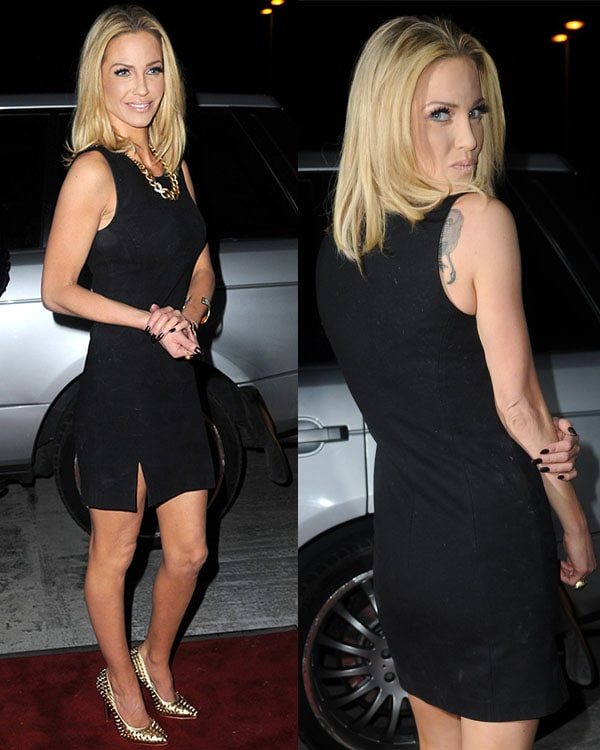 Sarah Harding at Girls Aloud end of tour party held at Vermilion & Cinnabar on March 21, 2013