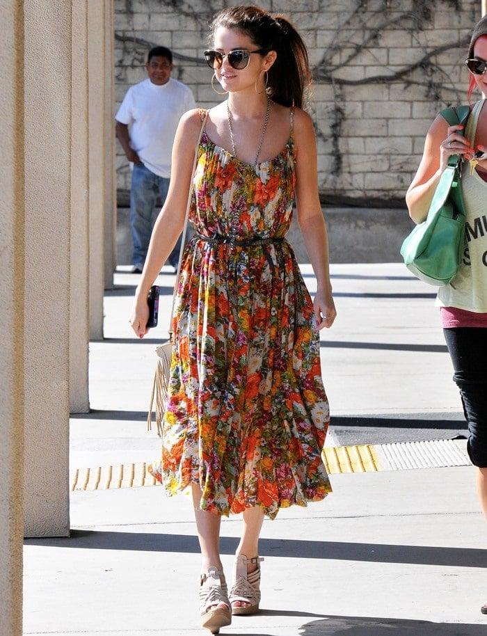 Selena Gomez seen out in Encino