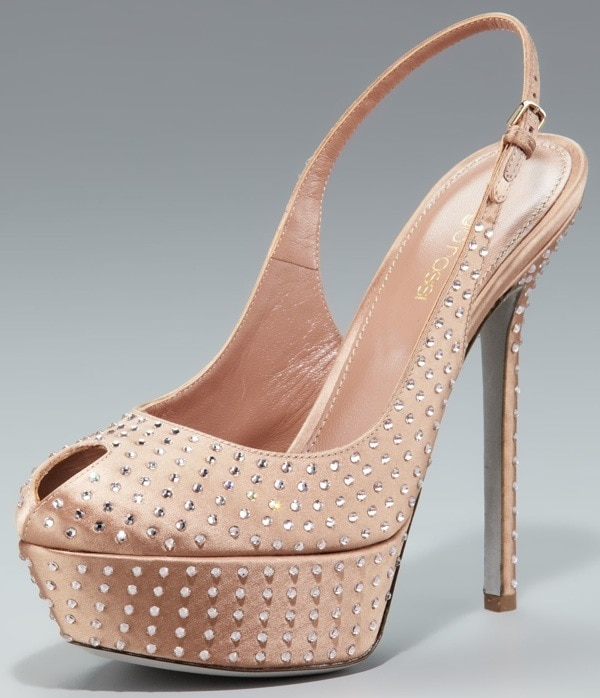 Sergio Rossi Cachet Crystallized Slingback $995.00