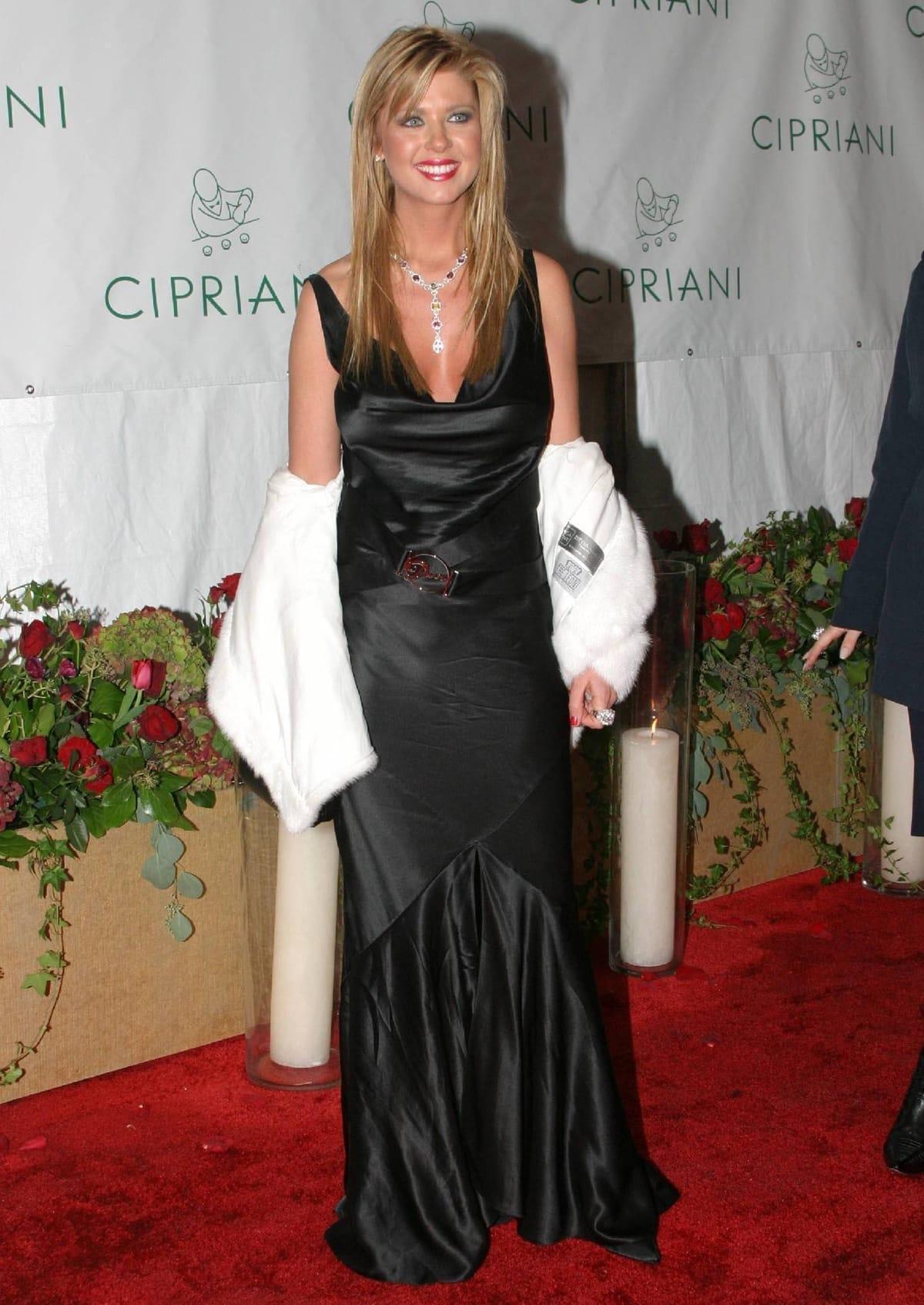 "Tara Reid just before her wardrobe malfunction at Sean ""P. Diddy"" Combs' 35th birthday"