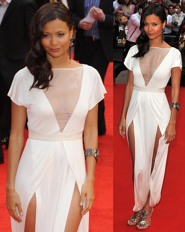 Thandie Newton 'Rocknrolla' World Premiere held at the Odeon West End - Arrivals London, England