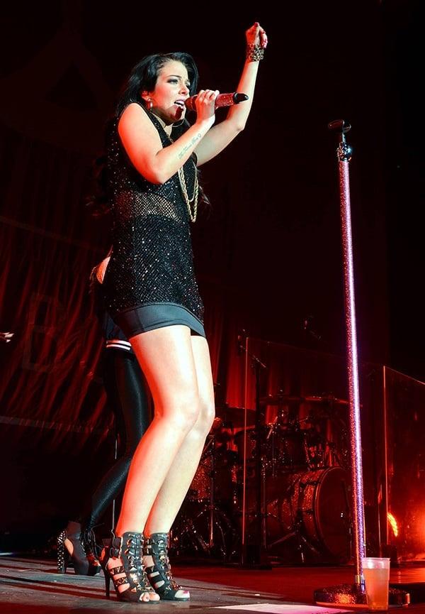 Tulisa is in the UK to support Ne-Yo's 'R.E.D.' tour