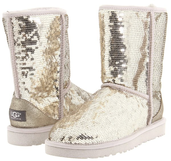 UGG Classic Sparkles Silver