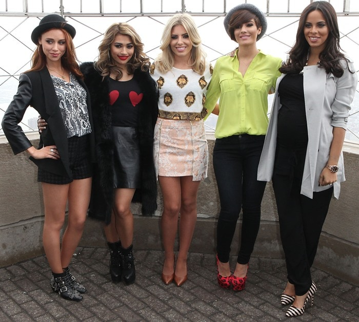 """Rochelle Humes, far right, promotes her new American reality-documentary television series, """"Chasing The Saturdays"""""""