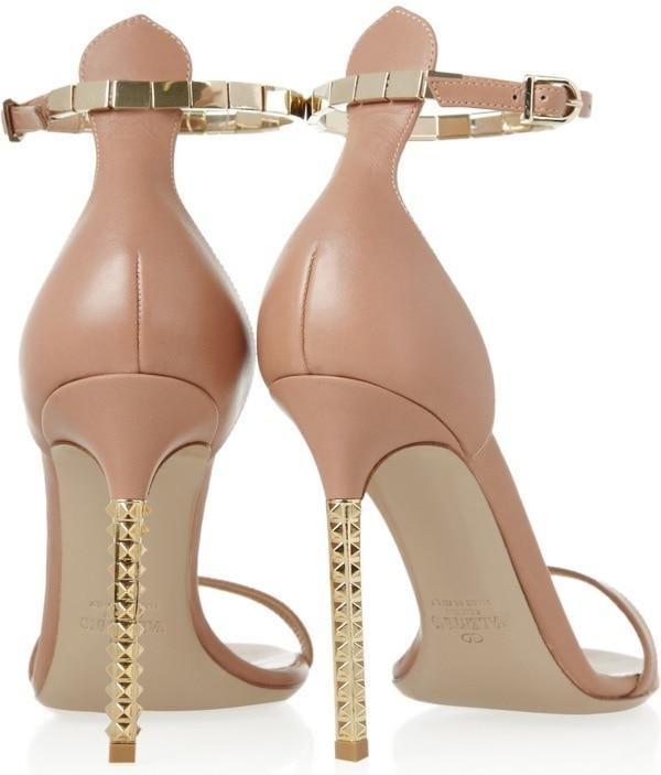 Valentino Embellished Leather Sandals, $995 Heel