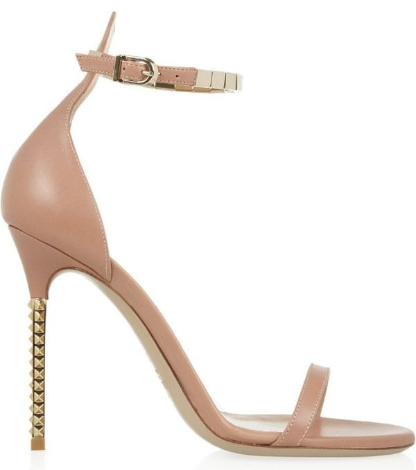 Valentino Embellished Leather Sandals, $995 Outstep