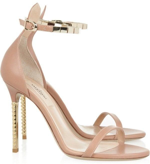 Valentino Embellished Leather Sandals, $995