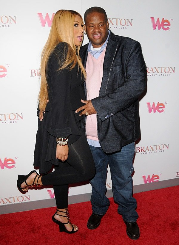 Tamar Braxton and Vince Herbert at We TV's premiere of Braxton Family Values at STK
