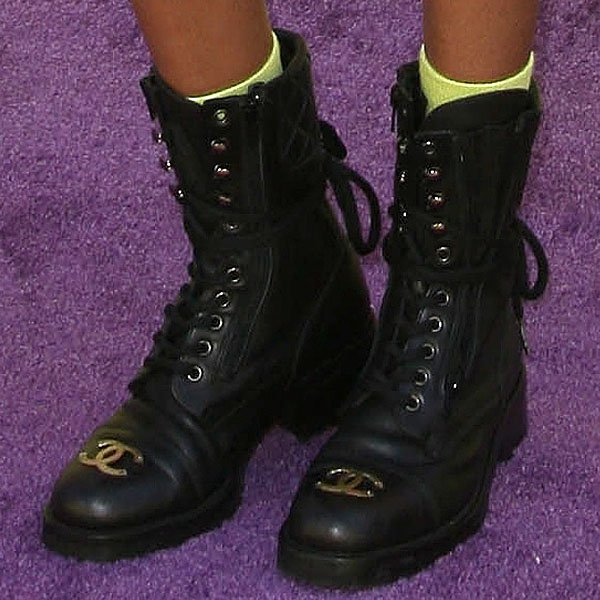 Willow Smith Chanel combat boots