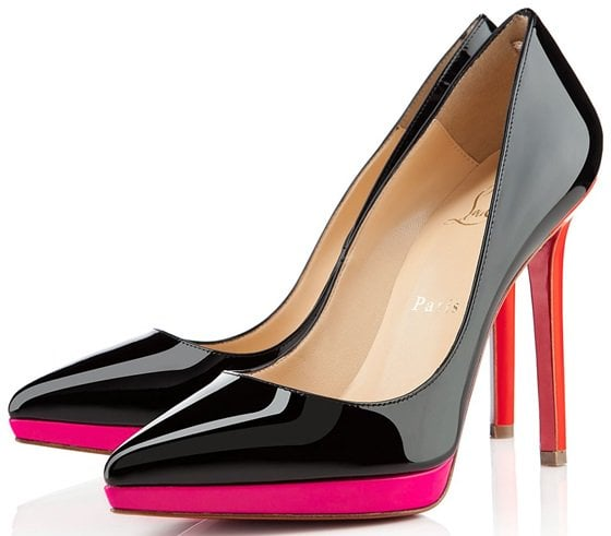 "Christian Louboutin ""Pigalle Plato"" Pumps in Black/Rose Matador"