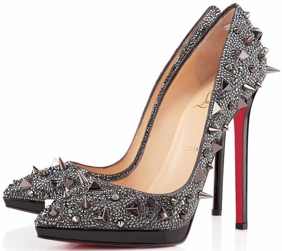"Christian Louboutin ""Pigalle (Pigalili) Plato"" Pumps in Strass"