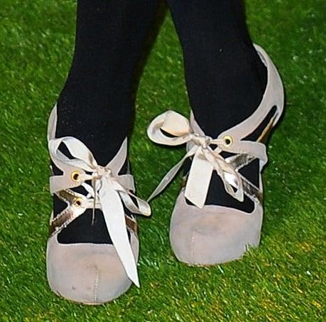 Dakota Blue Richards rocked ribbon-tie cutout pumps