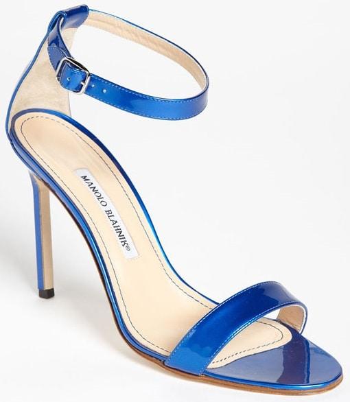 Manolo Blahnik 'Chaos' Sandals in Blue