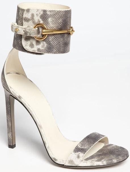 Gucci Horsebit Patent Ankle-Wrap