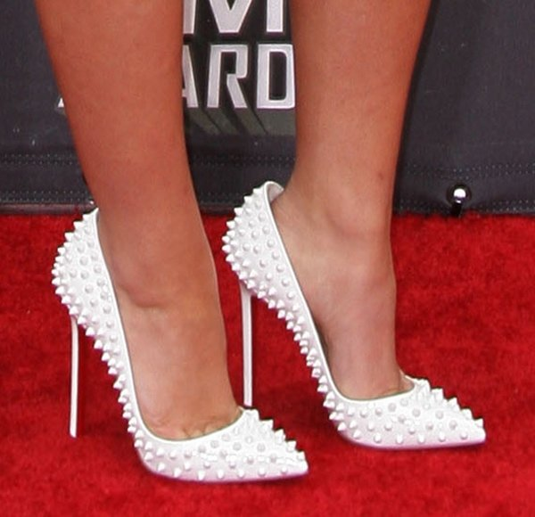 Alexis Knapp in Christian Louboutin 'Pigalle' studded pumps