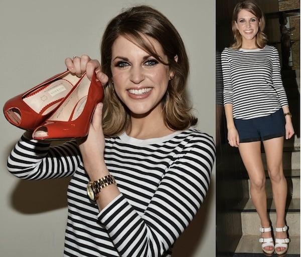 Amy Huberman has been busy designing her amazing footwear line for Bourbon Footwear