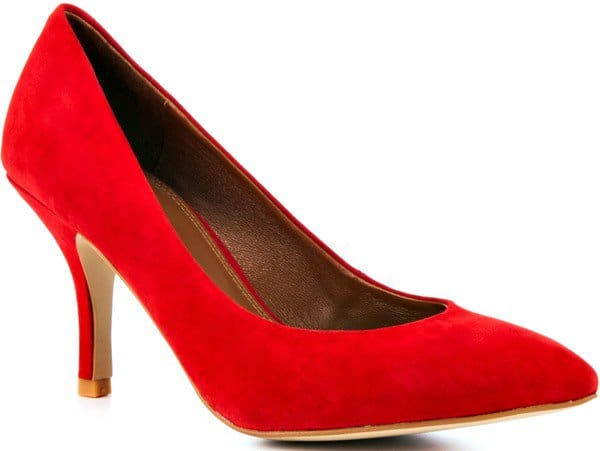 Chinese Laundry 'Area' Suede Pumps in Poppy Red