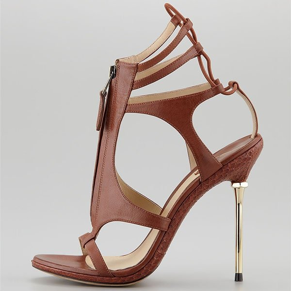 "B Brian Atwood ""Merritta"" Zip-Front Sandals"