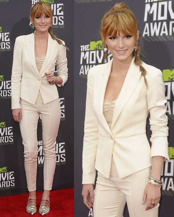 Bella Thorne at the 2013 MTV Movie Awards held at Sony Pictures Studios on April 14, 2013