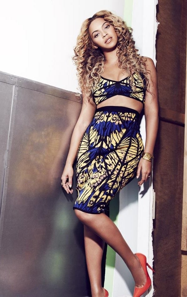 Beyonce in the April issue of Shape