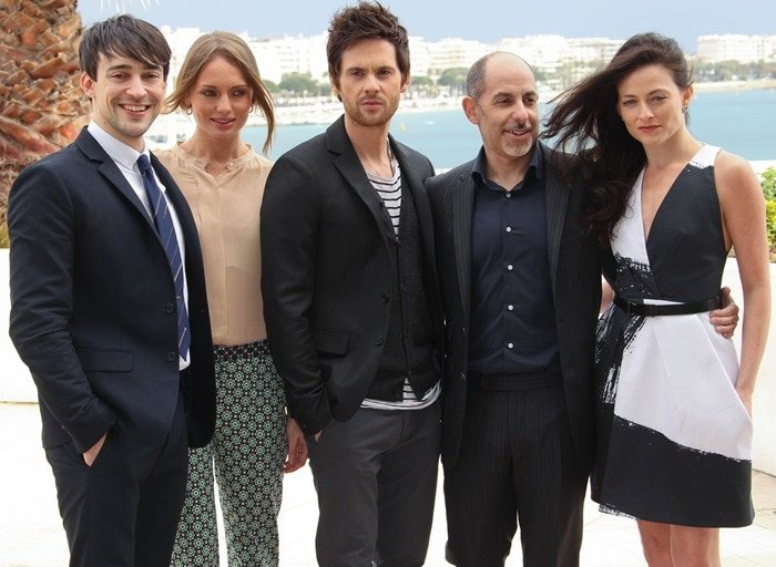 Blake Ritson, Laura Haddock, Tom Riley, writer David S. Goyer, and Lara Pulver at MIPTV 2013 in Cannes on April 8, 2013
