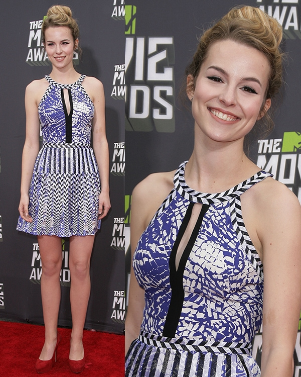 Bridgit Mendler at the MTV Movie Awards held at Sony Pictures Studios on April 14, 2013