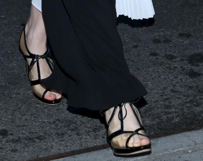 Brit Marling's feet inRupert Sanderson 'Harting' sandals